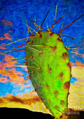 Photograph - Cactus Sunrise by DS Dodd