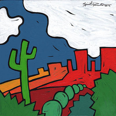 Painting - Cactus Valley by SpiritPainter