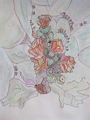 Mixed Media - Cactus Voices  #1 by Sharyn Winters
