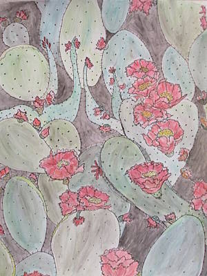 Mixed Media - Cactus Voices #2 by Sharyn Winters
