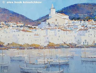 Painting - Cadaques II by Alex Hook Krioutchkov