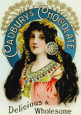 Painting - Cadburys Chocolate - Vintage 1900s Poster by Ian Gledhill