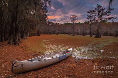Caddo Lake Photograph - Caddo Canoe by Inge Johnsson