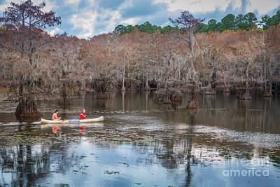 Caddo Lake Photograph - Caddo Lake Fishermen by Inge Johnsson