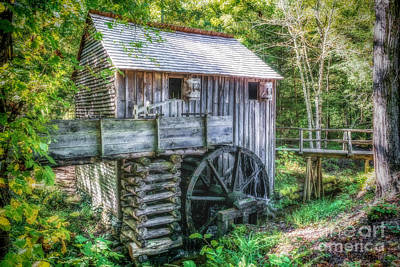 Photograph - Cade Cove Grist Mill by Nick Zelinsky