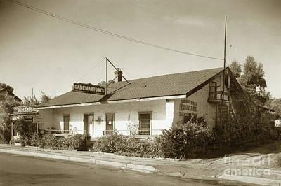 Photograph - Cademartori's  Restaurant In Casa Serrano, 412 Pacific St. Monterey 1941 by California Views Archives Mr Pat Hathaway Archives