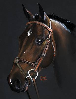 Dressage Art Pastel - Cadence by Heather Gessell