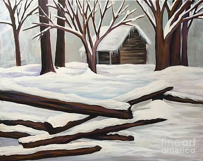 Cades Cove Painting - Cades Cove Cabin by Dana Rimback