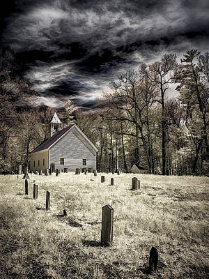 Photograph - Cades Cove Church by Steve Zimic