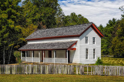 Frame House Photograph - Cades Cove Gregg-cable House - 1 by Frank J Benz