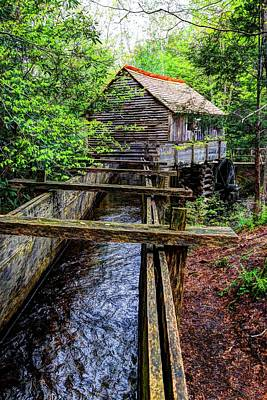 Cades Cove Grist Mill In The Great Smoky Mountains National Park  Art Print