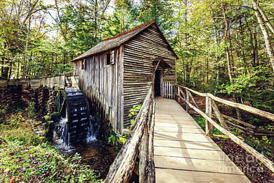 Photograph - Cades Cove Grist Mill by Joan McCool