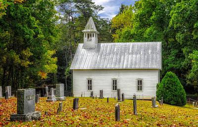 Photograph - Cades Cove Methodist Church - 1 by Frank J Benz