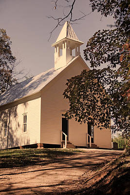 Photograph - Cades Cove Methodist Church by HH Photography of Florida