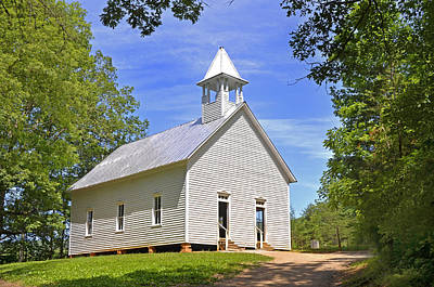 Photograph - Cades Cove Methodist Church by Paul Mashburn