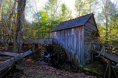 Cades Cove Mill - Tennessee Print by Lisa Lyne Blevins