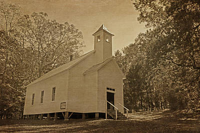 Photograph - Cades Cove Missionary Baptist Church - Vintage by HH Photography of Florida