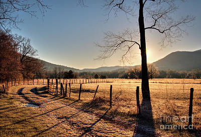 Print featuring the photograph Cades Cove, Spring 2017,i by Douglas Stucky