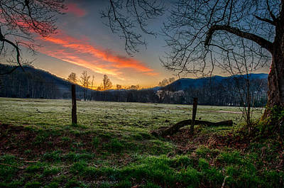 Photograph - Cades Cove Sunrise by Gene Sherrill