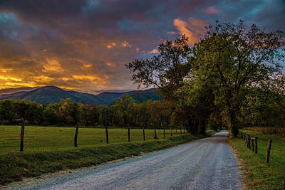 Photograph - Cades Cove Sunrise by Michael Sussman