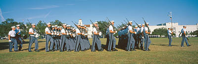 Cadet Photograph - Cadet Review, The Citadel, Charleston by Panoramic Images