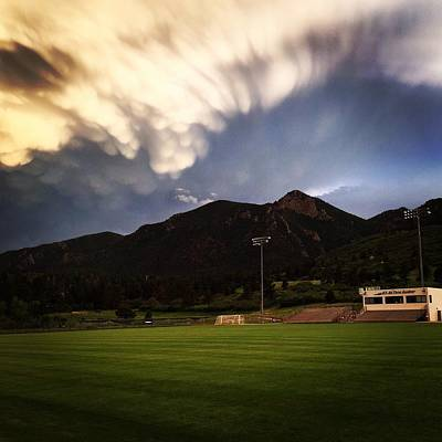 Art Print featuring the photograph Cadet Soccer Stadium by Christin Brodie