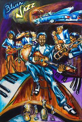 Painting - Cadillac Blues by Daryl Price