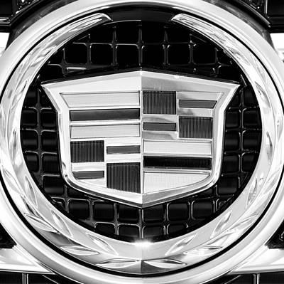 Cadillac Photograph - Cadillac Close Bw by Rospotte Photography