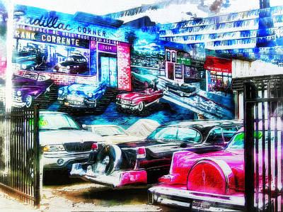Digital Art - Cadillac Corner Redux by Leigh Kemp