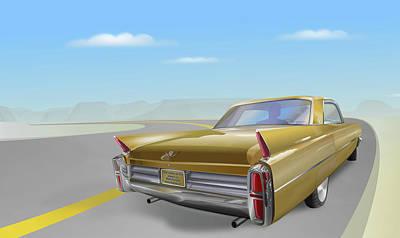Digital Art - Cadillac De Ville by Marty Garland