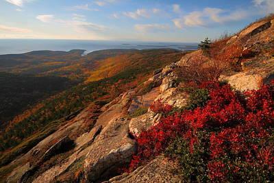 Cadillac Mountain Sunrise At Acadia National Park Art Print by Jetson Nguyen