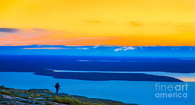 Linda King Photograph - Cadillac Mountain Sunrise Scene 3538 Opt. 1 by Linda King