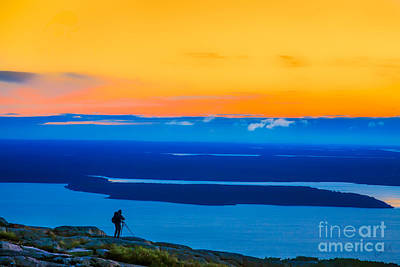 Linda King Photograph - Cadillac Mountain Sunrise Scene 3538 Option 2 by Linda King