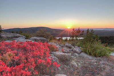 Photograph - Cadillac Mountain Sunset 2 by Paul Schultz
