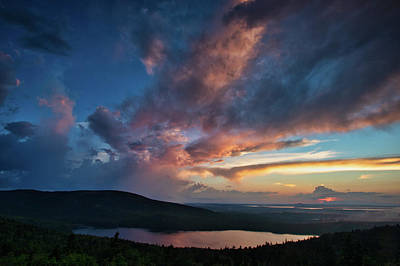 Anchor Down - Cadillac Mountain Sunset by Jerry Fornarotto
