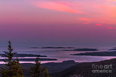 Landscapes Photograph - Cadillac Mountains Sunset by Claudia M Photography