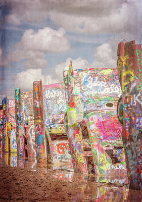 Photograph - Cadillac Ranch Afternoon IIi by Joan Carroll