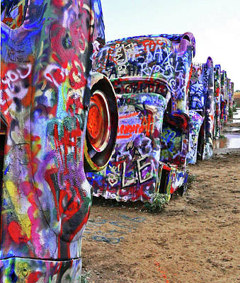 Cadillac Ranch Art Print by Angela Wright