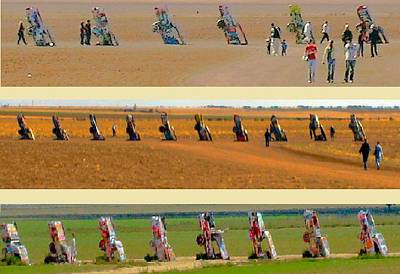 Robert Morrissey Photograph - Cadillac Ranch Revisited by Robert Morrissey