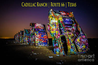 Route 66 Photograph - Cadillac Ranch Route 66 Texas Three by JC Kirk