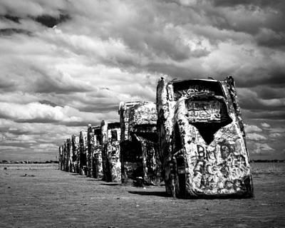 Amarillo Texas Photograph - Cadillac Ranch by Sonja Quintero