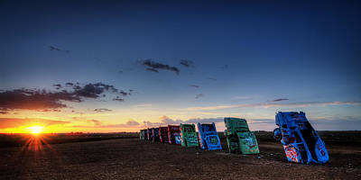 Photograph - Cadillac Ranch Sunrise by Ken Smith