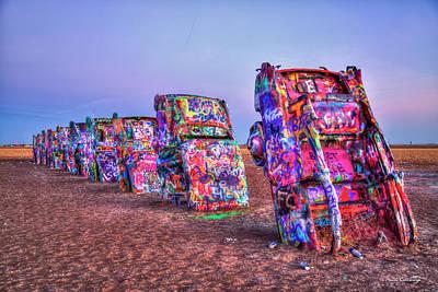 Photograph - Cadillac Ranch U S Route 66  Amarillo Texas Art by Reid Callaway