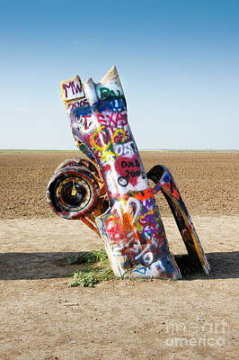 Photograph - Cadillac Ranch, West Texas by Greg Kopriva