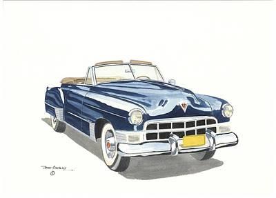 Cadillac Series 62 1949 Art Print by John Kinsley