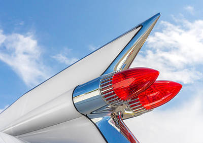 Caddy Photograph - 1959 Cadillac Tailfin by Jim Hughes