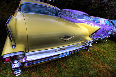 Cadillacs Photograph - Cadillacs All In A Row by David Patterson