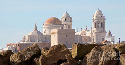 Photograph - Cadiz Cathedral--a View From The Beach by PJ Boylan