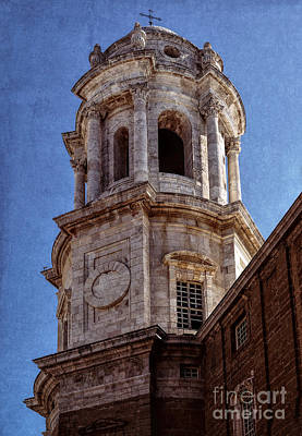 Photograph - Cadiz Cathedral Bell Tower by Sue Melvin