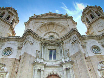 Photograph - Cadiz Cathedral by Helen Northcott